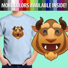 Beauty and Beast Happy Smile Disney Emoji Cartoon Unisex Kids Tee Youth T-Shirt