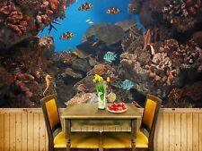 3D Coral Stone Fishs 8 Wall Paper Murals Wall Print Wall Wallpaper Mural AU Kyra