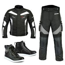 Men Motorbike Racing Suit Cordura Jacket Trouser Leather Motorcycle Racing Shoes
