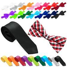 1 Pajarita Hombre Accesorio Banded Adjustable + 1 Tie Corbata Polyester Kit Boda