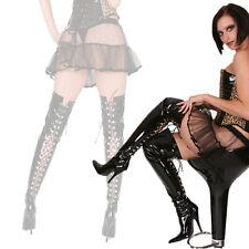 Femmes Hommes Punk gothic bottes boots overknee High Heels Verni Noir 36-46