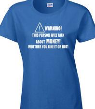 argent femmes T-shirt finances affaires travail drôle humour chèque espèces