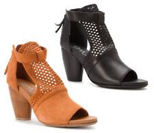 EMU Australia Women's Dame Open Toe Heels Platforms - Brown & Black