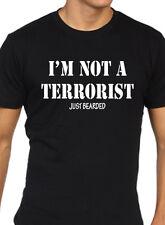 I'm not a terrorist just bearded t-shirt mens funny