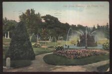 Postcard La CROSSE,Wisconsin/WI  Oak Grove Cemetery Fountain view 1907?