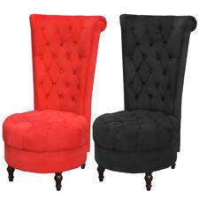 Chaise de canapé avec dossier haut Noir/Rouge Meuble mobilier de salon bureau