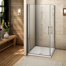 Frameless Pivot Shower Enclosure Walk In 6mm Double Glass Door Cubicle Screen