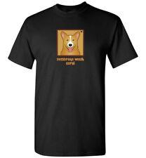 Pembroke Welsh Corgi Cartoon T-Shirt - Men Women Youth Tank, Short, Long Sleeve