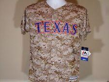 New Youth Kids Majestic Cool Base Marines Camo Texas Rangers Baseball Jersey