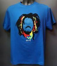 Men's Black Keys Bob Marley-Themed T-shirt - Blue