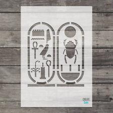 Tut Cartouche Egyptian Symbols Hieroglyphics reusable STENCIL Wall Art Airbrush