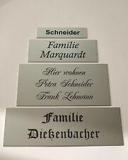 Aluminium Metall Klingelschild, Briefkastenschild, Türschild inkl.Gravur,klebend