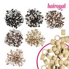 Hairoyal Microringe Gewinde 100 Stück für Haarverlängerung Extensions - 7 Farben