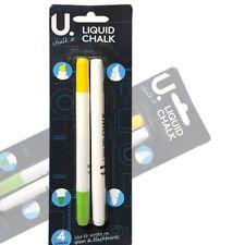 Chalk Craft Liquid Chalkboard Pen-White & Glass Pen Liquid Chalk Art & Crafts