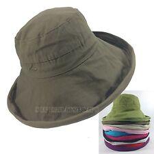 Cotton Packable Floppy Wide Brim Outdoor Sun Cloche Bucket Visor Hat
