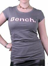 Bench Urbanwear Womens Smoked Pearl Gray Deckhand Logo T-Shirt BLGA2358 NWT