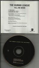 HUMAN LEAGUE Tell Me When w/ UTAH SAINTS MIX & DUB & EDIT PROMO DJ CD single 94