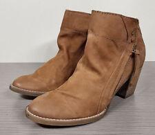 Dolce Vita 'Jessie' Zip Bootie, Teak Nubuck Soft Leather, Womens Various Sizes