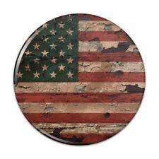 Rustic American USA Flag Distressed Pinback Button Pin Badge
