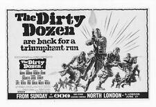 THE DIRTY DOZEN ORIGINAL UK FILM AD LEE MARVIN CHARLES BRONSON