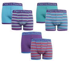 Pierre Roche 2 Pares Para Hombre Boxers Boxer Shorts troncos de diseño en la cintura de algodón
