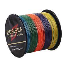 500M 100M 5Colors Agepoch 100%PE Dyneema Dorisea Braided Fishing Line Multicolor