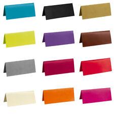 Tischkarten, 3x7 cm, 10 Stück Große Farbauswahl Namenskarten Hochzeit Tischdeko