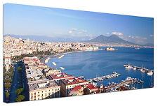 Quadro moderno Napoli Città Panorama - Arte - Arredo - Stampa su tela Intelaiato
