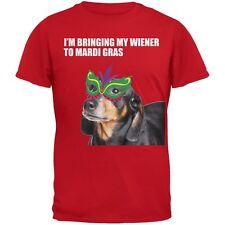 I'm Bringing My Wiener To Mardi Gras Red Adult T-Shirt