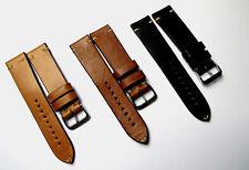 Echt Leder VINTAGE Uhrenband 20 od. 22mm inkl. Schnell Wechsel Federsteg - NEU!
