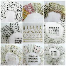 12 SHEETS 3D NAIL ART TIPS STICKERS FALSE NAIL DESIGN MANICURE MOUSTACHE LETTERS