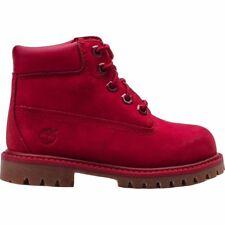 Timberland 6 Pulgadas Botas de cuero Premium Infantil Niños Pequeños Rojo Talla 6 7 8 9 Nuevo Y En Caja