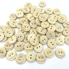 Los botones de madera redondo 4 Agujeros Coser Scrapbook Ropa Manualidades Trabajo Hecho a Mano 10-25mm