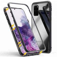 Magnetic Bumper case for Galaxy s7 Edge s8 s9 Plus Phone Case Glass Metal Case