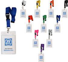 10 x Schlüsselband mit Ausweishülle EC Kartenhalter Lanyard Ausweishalter