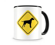 Dalmatiner Warnschild Hunde Tasse Kaffeetasse Teetasse Kaffeepott Kaffeebecher