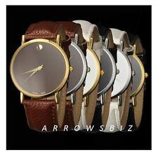 Fashion Business Analouge Plain Dial Sport  Wrist Watch Unisex Men Women Boys UK