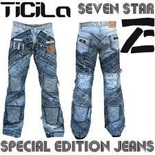 Ticila SEVEN STAR GRINGO Rocker Biker Rockstar Vintage Nieten Edition JEANS WoW