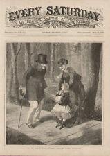 Victorian Lady Fashion Child Old Man Antique Art Print