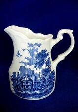 Vintage J&G.MEAKIN Romantic England Herefordshire Blue Creamer Pitcher