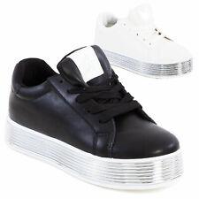 Scarpe donna sneakers alte zeppa flatform sportive doppio fondo TOOCOOL SG60
