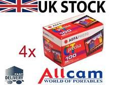 4 Pack: Agfa Precisa CT100 135-36 colour slide film Iso100, 35mm, Slide