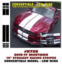 "K728 2015 2017 MUSTANG 10"" LEMANS DUAL RACING STIRIPE DECAL CONVERTIBLE LOW WING"
