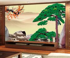 3D Mountain Tree 94 Wallpaper Mural Paper Wall Print Wallpaper Murals UK
