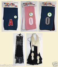 New Matalan Alder Hey Alphabet Winter Scarfs Letter A O Pink Blue Black Gloves