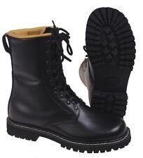 Bottes de combat noir plein cuir doublure en armée chaussures migrations