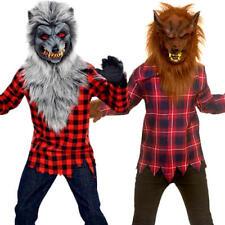 Werewolf Boys Fancy Dress Halloween Animal Scary Spooky Kids Childrens Costumes