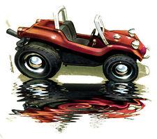 Meyers Manx Dune Buggy ATV CARTOON T-SHIRT #4106 off road automotive art