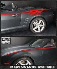 Chevrolet Camaro 2010-2015 Tribal Flame Side Stripes Decals (Choose Color)