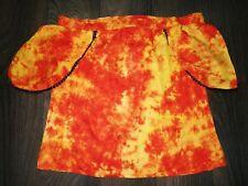 Hippie Boho Party Festival Dance Tie N Dye Crop Top